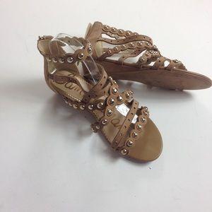 Sam Edelman Dustee Strappy Sandals Beige Sz 9